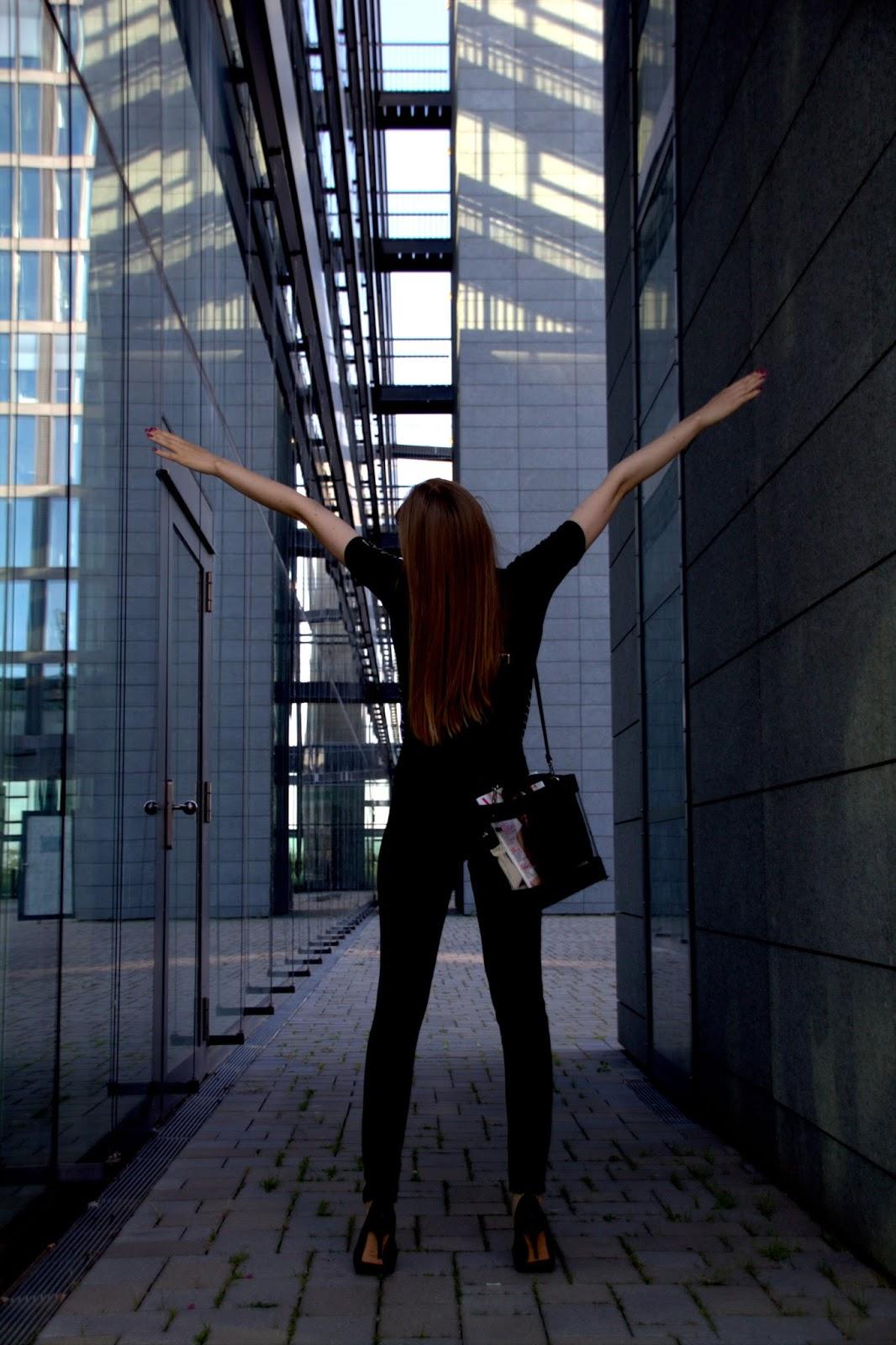 Around office buildings